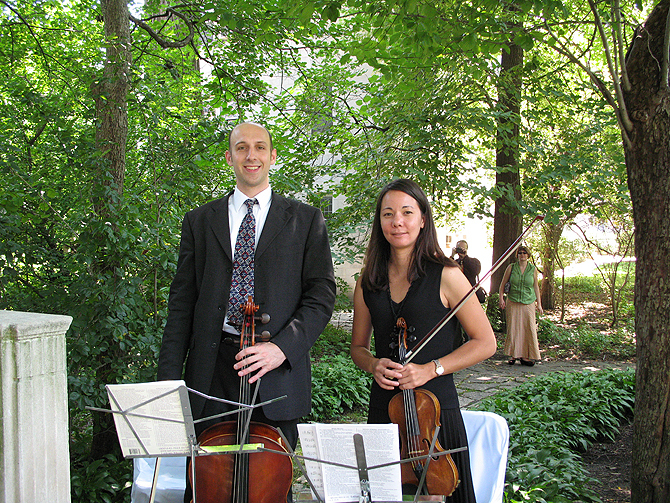 Ceremony, Flowers & Decor, Garden, Wedding, Musicians, Music, Shakespeare, Quartet, Chicago, String, Duo, Evanston, Parkwest strings