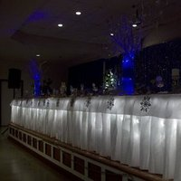 Reception, Flowers & Decor, blue, silver, Centerpieces, Winter, Brides, Table, Curly, Manzanita, Snowflakes, Willow, Wonderland