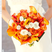 Ceremony, Flowers & Decor, white, yellow, orange, pink, red, Ceremony Flowers, Flowers