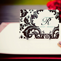 Stationery, white, black, Invitations, Wedding, Formal, Damask, Stationary, Red pearl designs