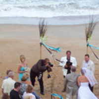Ceremony, Flowers & Decor, Beach, Beach Wedding Flowers & Decor, Nontraditional, Eventurous