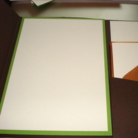 Stationery, green, brown, Invitations