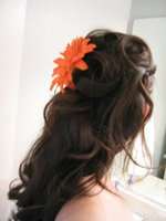 Beauty, Flowers & Decor, orange, Flowers, Hair, Inspiration board
