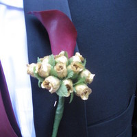 Flowers & Decor, Boutonnieres, Groom, Boutineer, Burgandy