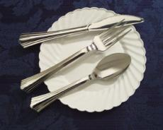 Registry, silver, Place Settings, Silverware, Knives, Like, Cutlery, Looks, Plastic, Upscale party disposables, Forks