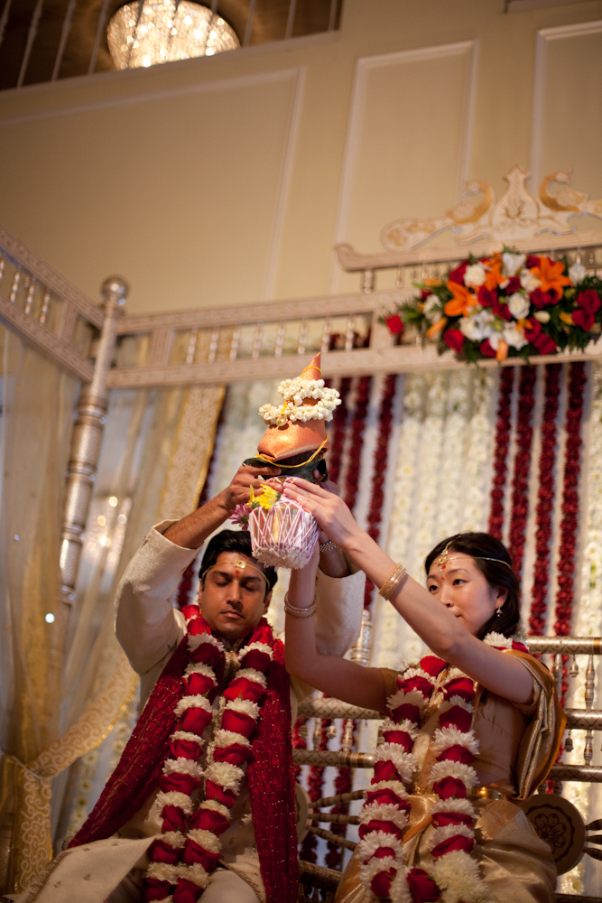 Ceremony, Flowers & Decor, orange, Hindu, Indian, Korean, Shane godfrey photography