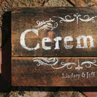 Ceremony, Flowers & Decor, brown, Vintage, Rustic, Rustic Wedding Flowers & Decor, Country, Signage
