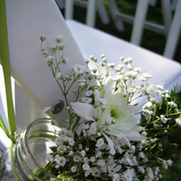 Ceremony, Flowers & Decor, white, Rustic, Rustic Wedding Flowers & Decor, Country, Jars, Mason
