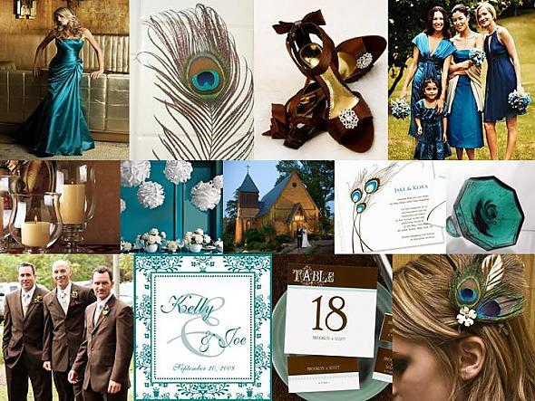 Inspiration, brown, And, Teal, Board