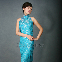 Bridesmaids, Bridesmaids Dresses, Wedding Dresses, Fashion, blue, gold, dress, Asian, Qipao