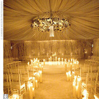 Ceremony, Flowers & Decor, gold, Candles, Semicircle