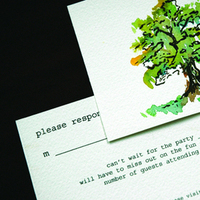 Stationery, green, brown, black, invitation, Invitations, Tree, Rsvp, Courtney khail stationery and design