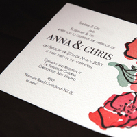 Stationery, orange, pink, red, invitation, Invitations, Rose, Courtney khail stationery and design