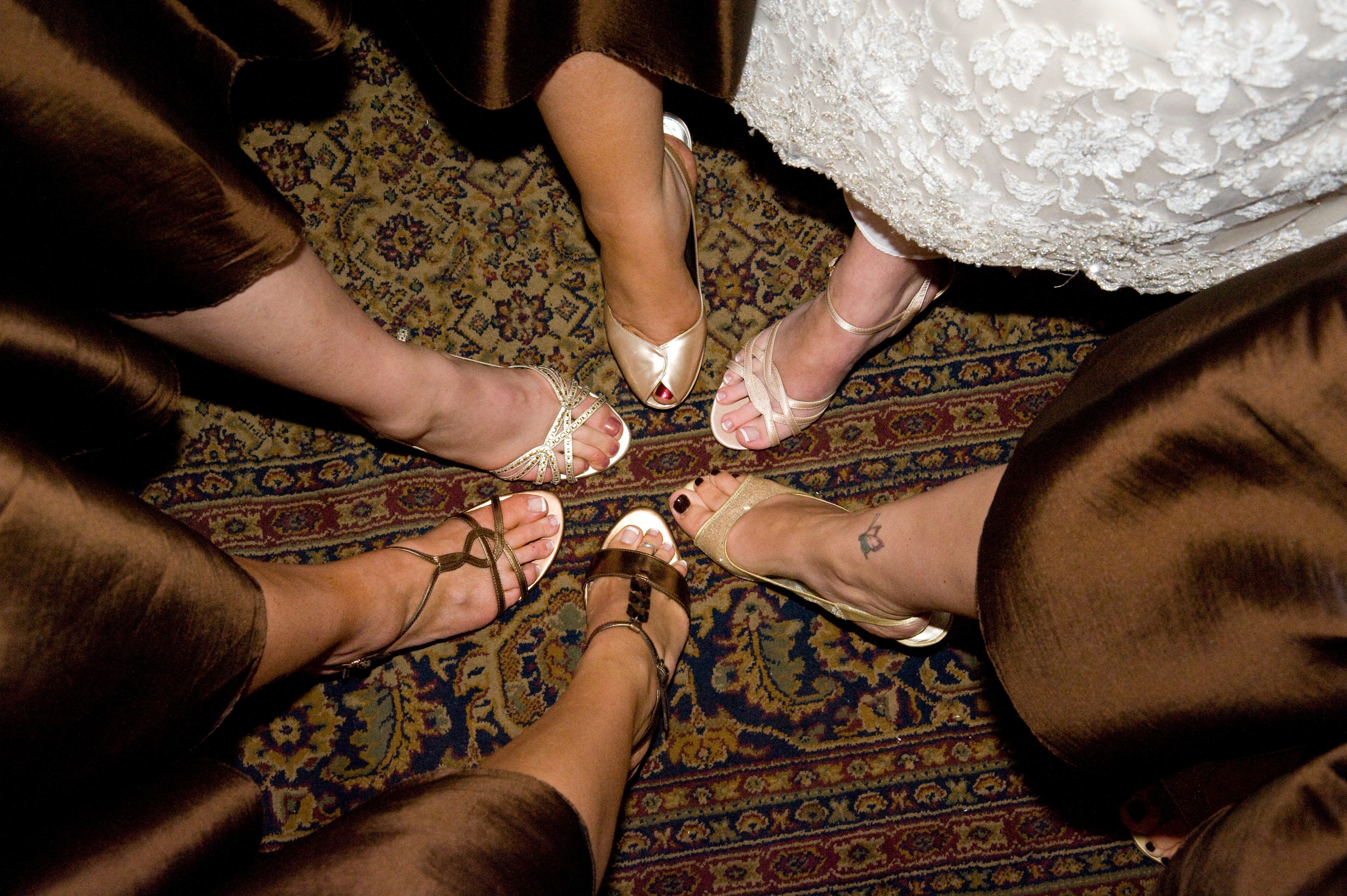 Reception, Flowers & Decor, Bridesmaids, Bridesmaids Dresses, Shoes, Fashion, brown, gold, Feet, Nmd photography