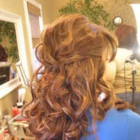 Beauty, Wavy Hair, Long Hair, Hair, Long, Wavy, Half-up-do