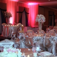 Reception, Flowers & Decor, pink, Lighting, Flowers