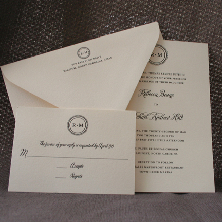 Classic Wedding Invitations, Modern Wedding Invitations, Ella elise stationery