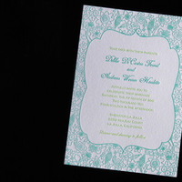 Flowers & Decor, Stationery, blue, green, invitation, Classic, Classic Wedding Invitations, Invitations, Southern, Flower, Letterpress, Pretty, Wildflower, The aerialist press