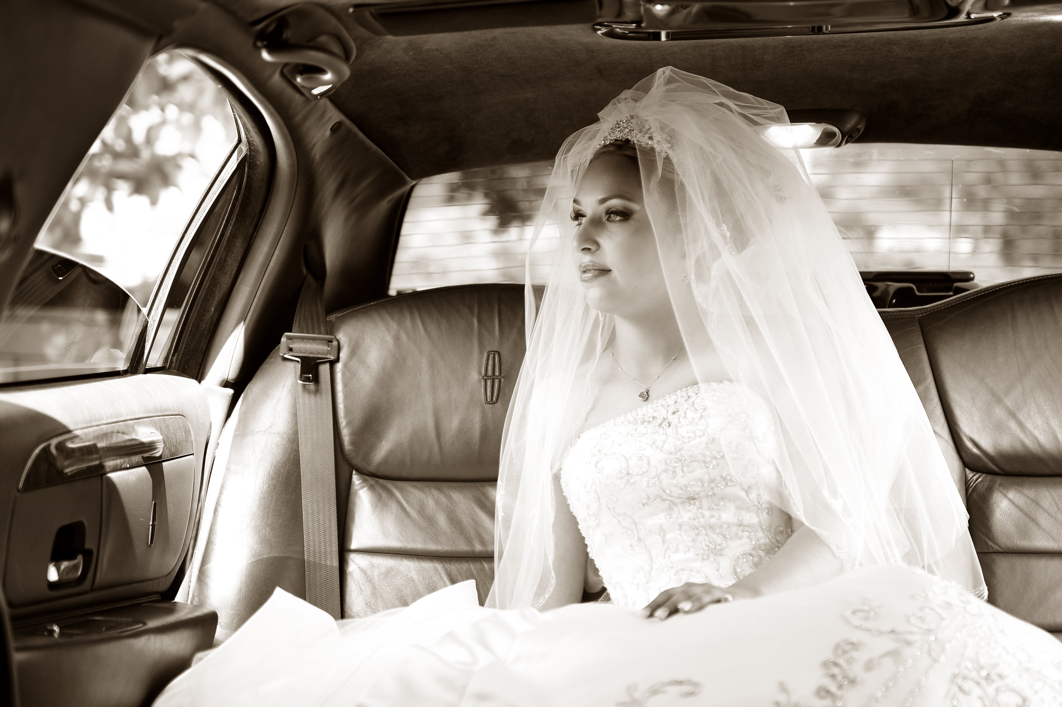 Beauty, Bride, Portrait, Hair, Car, Limo, Sepia, Manalo empire-photography