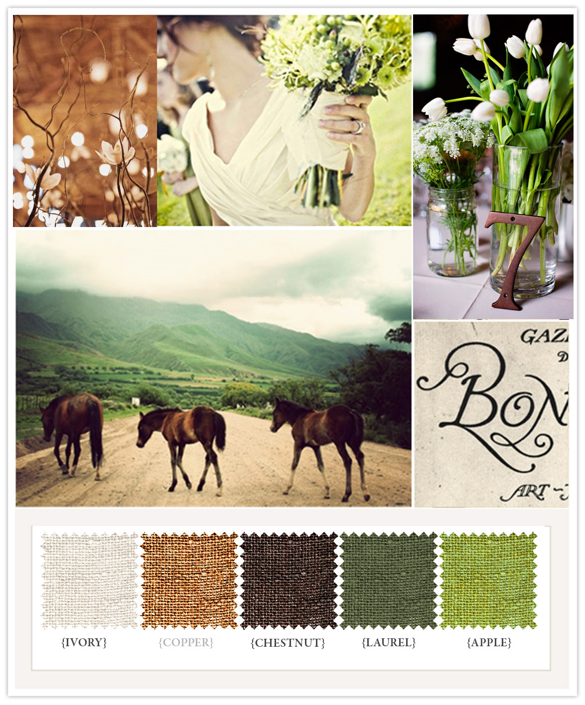 The Color Scheme For Our Forestthemed Wedding