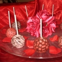 Ceremony, Reception, Flowers & Decor, Favors & Gifts, Bridesmaids, Bridesmaids Dresses, Cakes, Fashion, white, pink, red, brown, silver, cake, Favors, Edible, Brownie, Pops, A taste of rubies