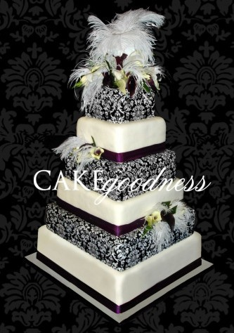 Cakes, black, cake, Damask, Cake goodness