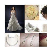 Beauty, Ceremony, Inspiration, Reception, Flowers & Decor, Jewelry, Wedding Dresses, Shoes, Fashion, white, pink, green, dress, Ceremony Flowers, Flowers, Hair, Board, Flower Wedding Dresses