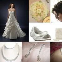 Beauty, Ceremony, Inspiration, Reception, Flowers & Decor, Wedding Dresses, Shoes, Fashion, white, pink, green, dress, Ceremony Flowers, Flowers, Hair, Board, Flower Wedding Dresses