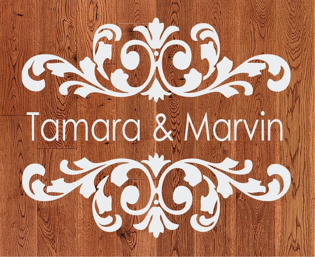 Ceremony, Reception, Flowers & Decor, Decor, white, yellow, orange, pink, red, purple, blue, green, brown, black, silver, gold, Dance, Monogram, Wedding, Custom, Unique, Gobo, Floor, Personalized, Damask, Sticker, Decal, Ten23 designs custom decals
