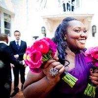 Flowers & Decor, Bridesmaids, Bridesmaids Dresses, Fashion, pink, purple, Bridesmaid Bouquets, Flowers, Flower Wedding Dresses
