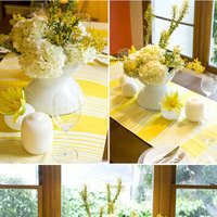 Reception, Flowers & Decor, white, yellow, Wwwstylemeprettycom