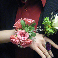 Flowers & Decor, white, pink, Boutonnieres, Corsages, Flowers, Boutonniere, Corsage, Succulent, Fujikos flowers