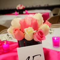 Reception, Flowers & Decor, pink, black, Cm events