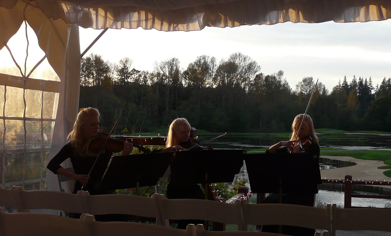 Ceremony, Reception, Flowers & Decor, Wedding, Musicians, Music, Violin, The, Quartet, Sisters, Lodge, Three, Creek, Trio, String, wa, Bear, Gothard, September, Woodinville, Violins