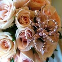 Inspiration, Flowers & Decor, Bridesmaids, Bridesmaids Dresses, Fashion, white, ivory, pink, brown, silver, gold, Bride Bouquets, Bridesmaid Bouquets, Flowers, Bouquet, Detail, Champagne, Rose, Board, Crystal, Cream, Spray, Posy, Romantica floral design, Flower Wedding Dresses