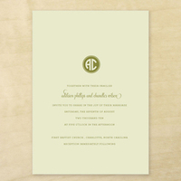 Stationery, white, green, Classic, Classic Wedding Invitations, Invitations, Southern, Thermography, Traditional, Letterpress, Simple, Clean, Emily ley paper