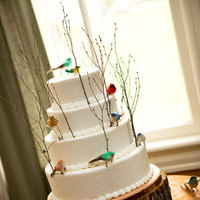 Cakes, white, yellow, orange, pink, red, green, brown, silver, gold, cake, Travelers cafe wedding cakes