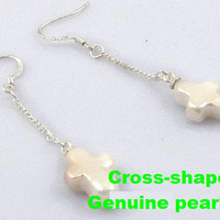 Jewelry, Bridesmaids, Bridesmaids Dresses, Fashion, white, Earrings, Pearl, Dangle, Funpearlscom