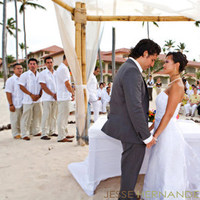 Ceremony, Reception, Flowers & Decor, Bridesmaids, Bridesmaids Dresses, Wedding Dresses, Beach Wedding Dresses, Destinations, Fashion, white, yellow, orange, red, purple, blue, green, brown, dress, travel, Caribbean, Beach, Ceremony Flowers, Bride Bouquets, Bridesmaid Bouquets, Bride, Outdoor, Flowers, Beach Wedding Flowers & Decor, Groom, Wedding, Destination, Photographer, La, Elegance, Exotic, Photojournalism, Marriage, Playa, Flower Wedding Dresses