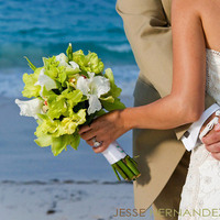 Ceremony, Reception, Flowers & Decor, Jewelry, Wedding Dresses, Beach Wedding Dresses, Destinations, Fashion, white, yellow, orange, blue, green, brown, dress, Caribbean, Beach, Ceremony Flowers, Bride Bouquets, Bride, Outdoor, Flowers, Beach Wedding Flowers & Decor, Groom, Wedding, Destination, Photographer, La, Exotic, Photojournalism, Santo, Marriage, Punta, Cana, Locations, En, Playa, Real, Flower Wedding Dresses