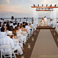 Flowers & Decor, Ceremony Flowers, Aisle Decor, Beach Wedding Flowers & Decor