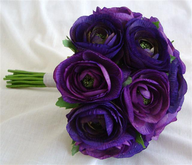 Flowers & Decor, purple, Bride Bouquets, Flowers, Bouquet, Ranunculus