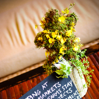Reception, Flowers & Decor, yellow, gold, Centerpieces, Flowers, Centerpiece, Sustainable, Hoku caterers