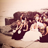 Bridesmaids, Bridesmaids Dresses, Wedding Dresses, Fashion, white, black, dress, Modern, Bride, Party, Group, Bridal, Pictures, Creative, Retro, J michael wallace photography, Modern Wedding Dresses