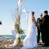 Ceremony, Flowers & Decor, white, Beach, Beach Wedding Flowers & Decor