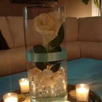 Reception, Flowers & Decor, blue, Beach, Beach Wedding Flowers & Decor, Flower