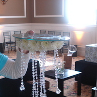 Inspiration, Flowers & Decor, white, Centerpieces, Flowers, Centerpiece, Board, With, Crystals