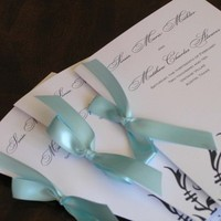 Ceremony, Inspiration, Flowers & Decor, blue, Program, Floral, Board, Tiffany, Damask, 2bsquared designs
