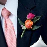 Flowers & Decor, Fashion, orange, pink, Men's Formal Wear, Flowers, Groomsman, Suit, Josh ohms photography, Flower Wedding Dresses