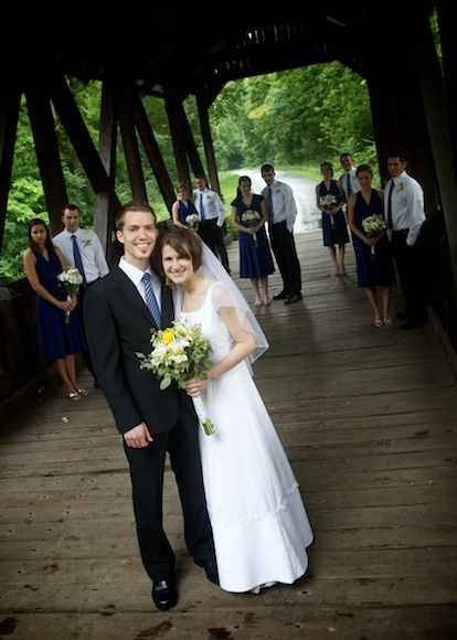 yellow, Bride, Groom, Wedding, Party, Formal, Bridge, Ohio, Josh ohms photography